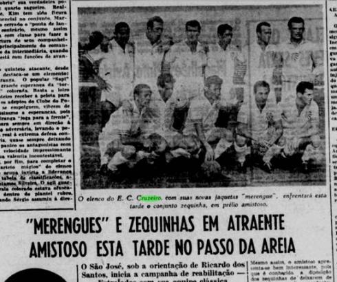 08-09-1961 Jornal do Dia Estreia camiseta branca Cruzeiro