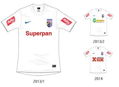 A camiseta branca da Nike